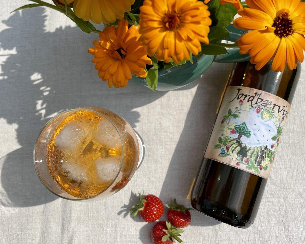 jordbærvin fra Søbogaard